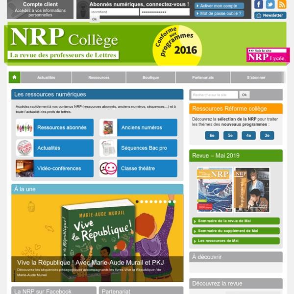 Accueil - NRP Collège
