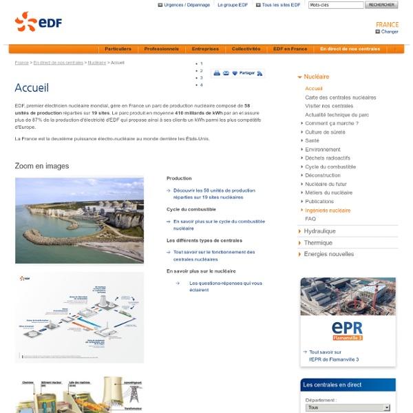 La production d'électricité d'EDF - Le nucléaire