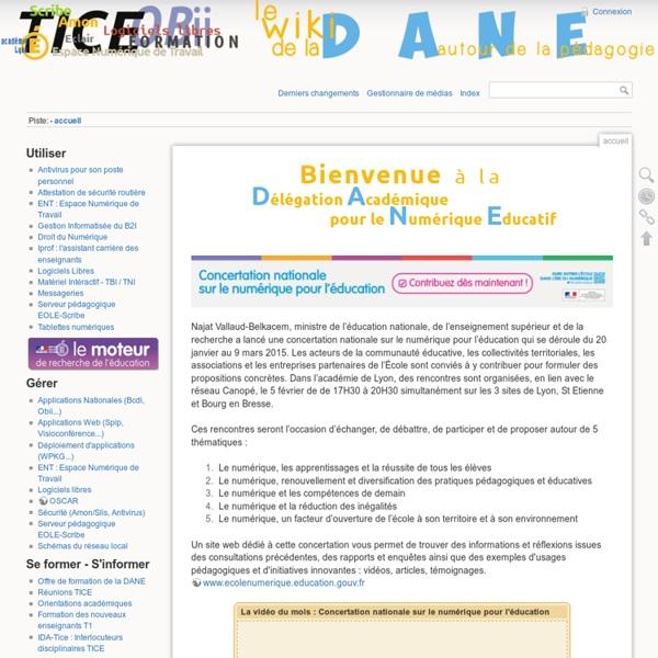 Accueil [Autour du Numérique Éducatif - Le Wiki de la DANE de Lyon -]