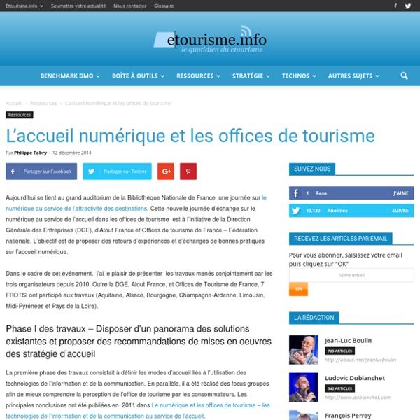 L'accueil numérique et les offices de tourisme