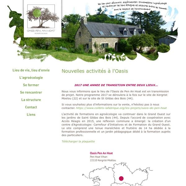 Agroécologie (Bretagne) / L'Oasis de Pen An Hoat