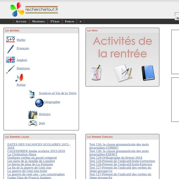 Accueil de recherchetout.fr