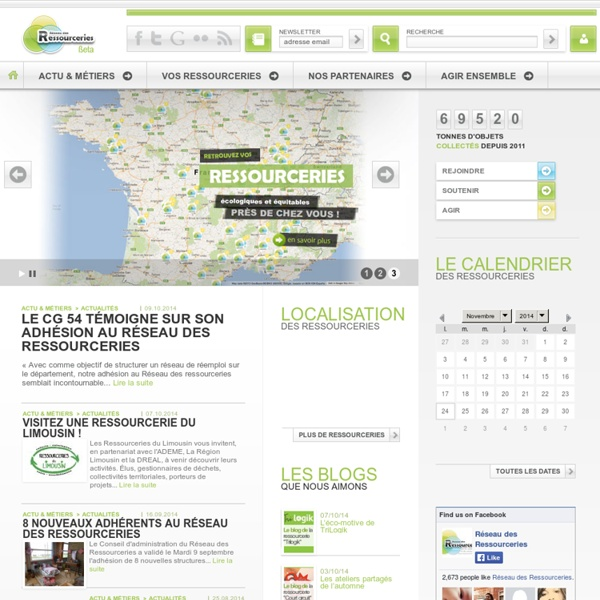 Accueil - Reseau des Ressourceries