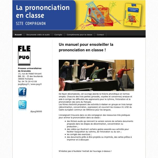 Accueil - Site de laprononciationenclasse !