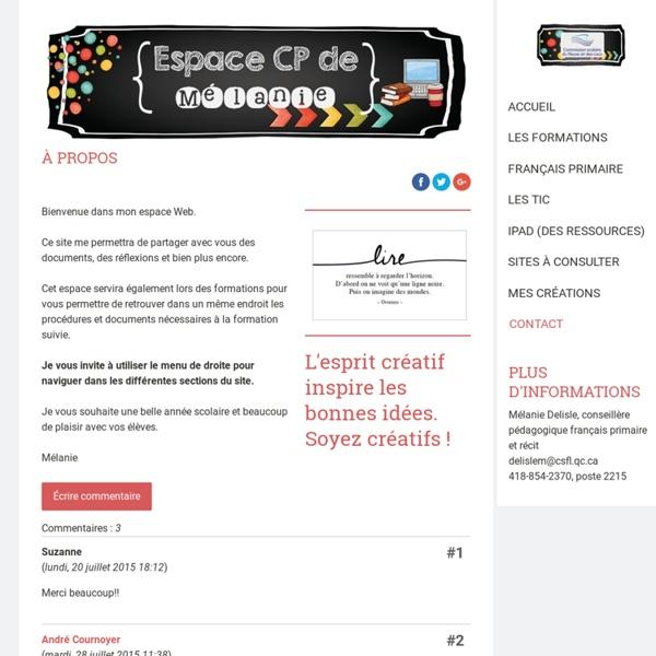 Accueil - Site de espacecp !