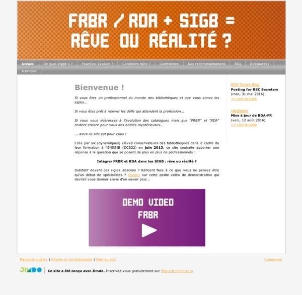 Accueil - Site de frbr !
