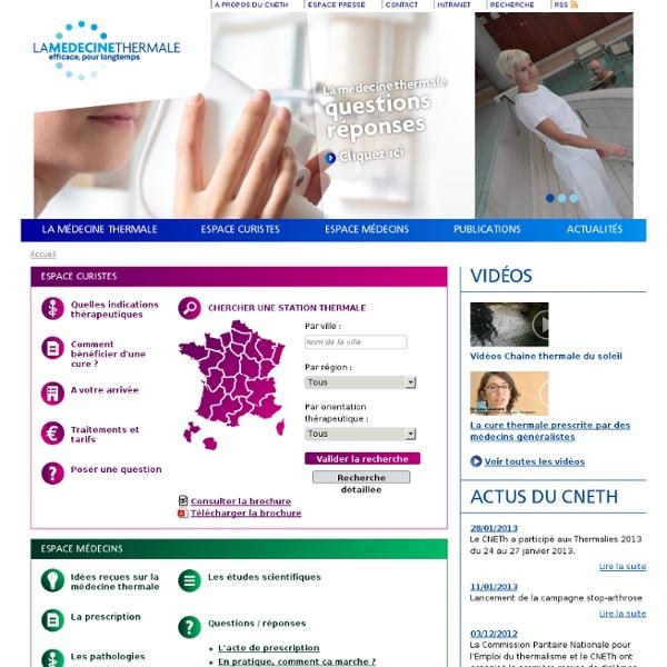 Accueil - Thermes et cures thermales en France