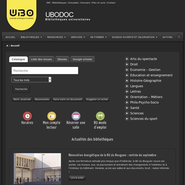 Ubodoc - Le portail des bibliothèques de l'UBO