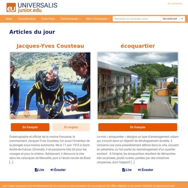 Accueil: Universalis Junior