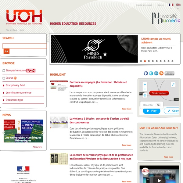 Accueil Université Ouverte des Humanités