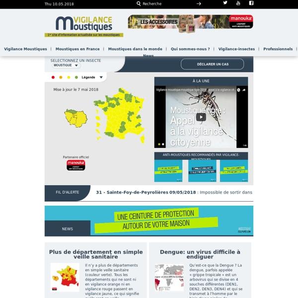 VIGILANCE MOUSTIQUE - La Carte vigilance-moustiques de France.