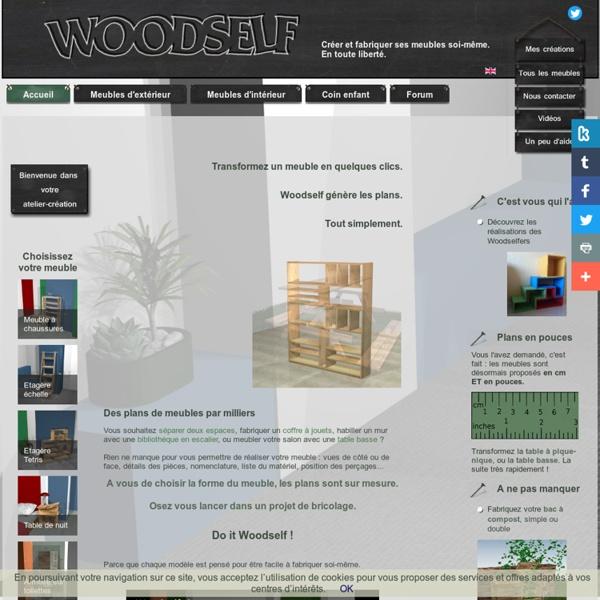 Woodself : le site des plans de meubles gratuits