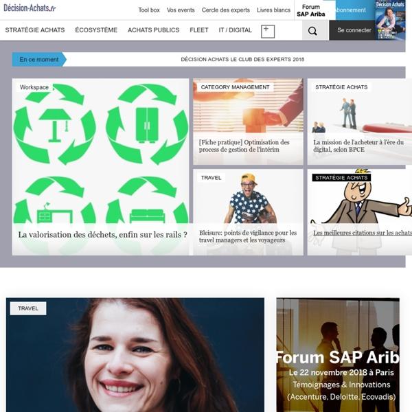 Décision Achats, le site des acheteurs professionnels et des acheteurs publics - decision-achats.fr