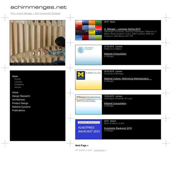 Achim Menges Design Research Architecture Product Design