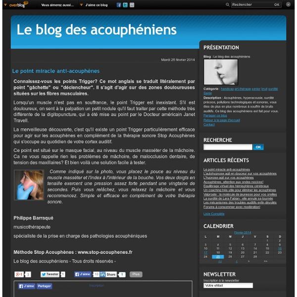 Le point miracle anti-acouphènes - Le blog des acouphéniens