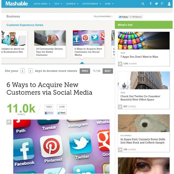 6 Ways to Acquire New Customers via Social Media