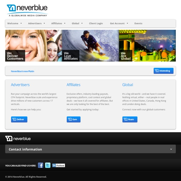 Neverblue CPA Affiliate Network and Global Online Lead Generatio