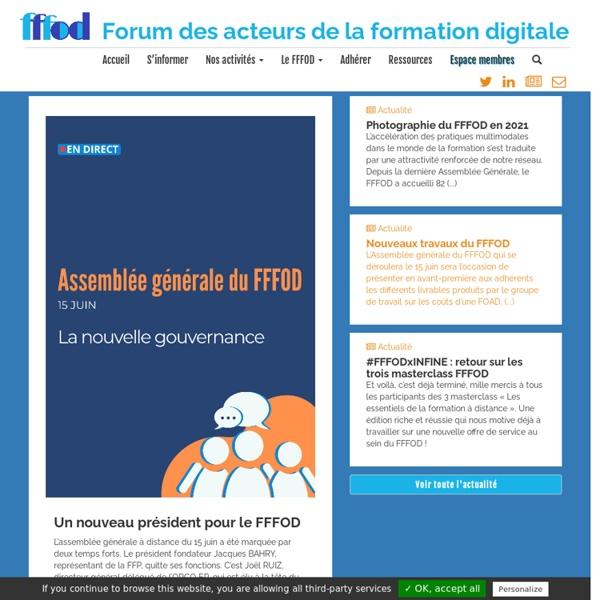 FFFOD, le forum des acteurs de la formation digitale - Accueil