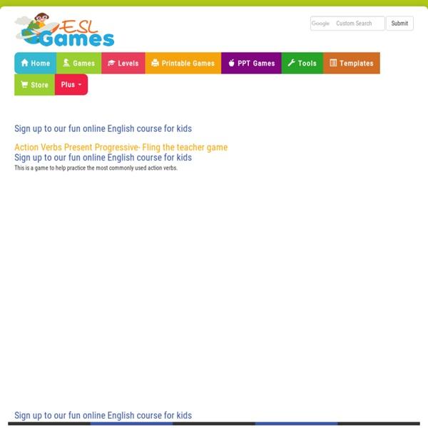 Action Verbs Present Progressive Game
