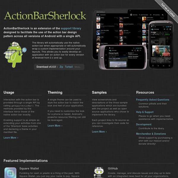 ActionBarSherlock - Home