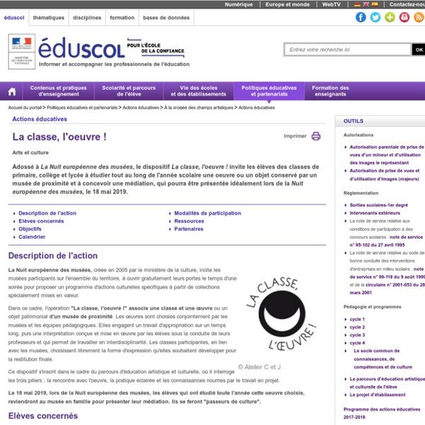 Accueil du portail - La classe, l'oeuvre ! 2017-2018
