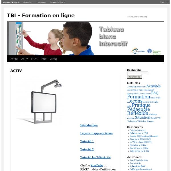 TBI – Formation en ligne: ACTIV