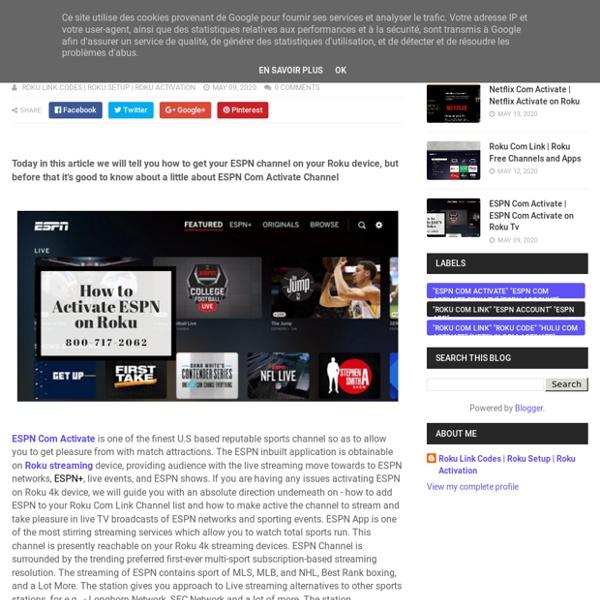 ESPN Com Activate on Roku Tv - Roku Setup