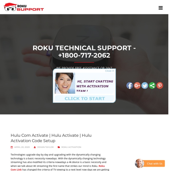 Hulu Activation Code Setup – Call +1800-717-2062 Roku Activation Support