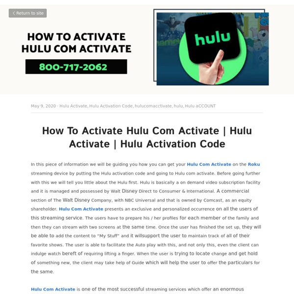 Hulu Activation Code - Hulu Activate Hulu Activation Code hulucomacctivate hulu Hulu aCCOUNT