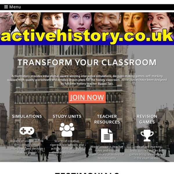 ActiveHistory: Online History Simulations, Lessons and Worksheets for the Classroom