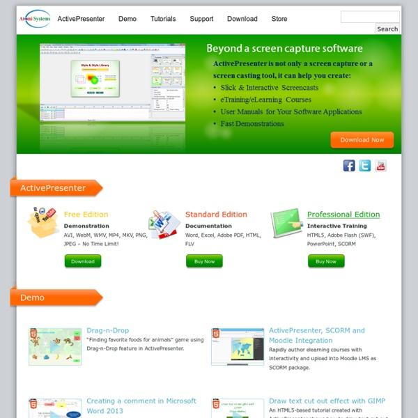 ActivePresenter – Advanced Screencast & Rapid eLearning Authoring Tool