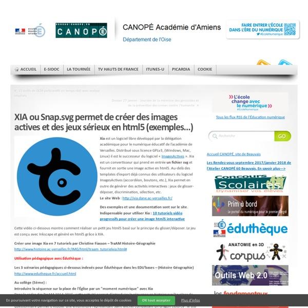 XIA permet de créer des images actives et des jeux sérieux en html5 (exemples…)
