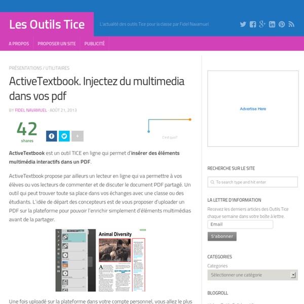 ActiveTextbook. Injectez du multimedia dans vos pdf