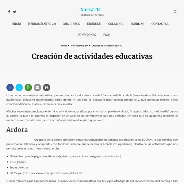 Creación de actividades educativas » XarxaTIC