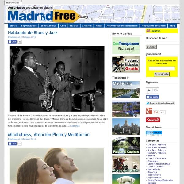Actividades gratuitas en Madrid: Cine, exposiciones, teatro y mucho más.