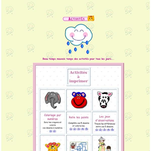 Activités et bricolages pour enfants
