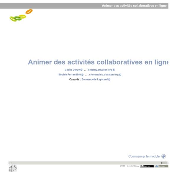 Animer des activités collaboratives en ligne