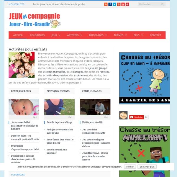Activités enfants : Jeux et Compagnie