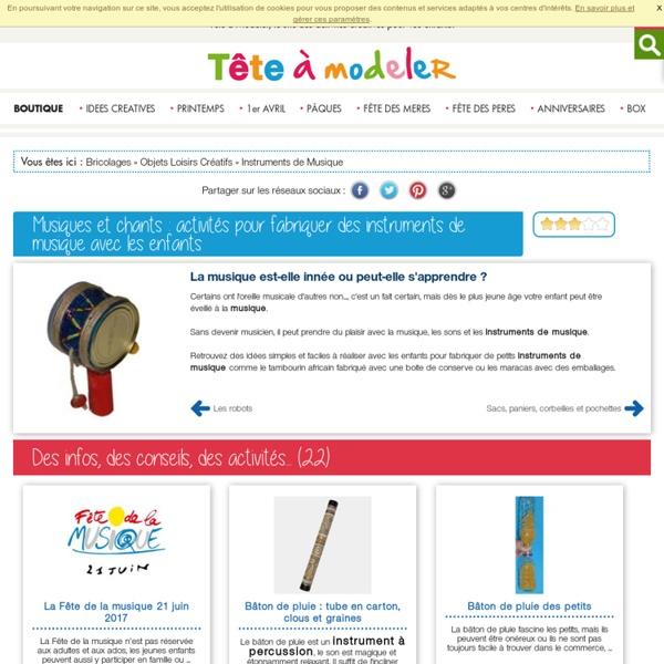 Musique et chant : activités pour fabriquer des instruments de musique avec les enfants l Musique