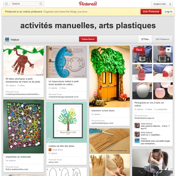 pinterest activit s manuelles arts plastiques pearltrees. Black Bedroom Furniture Sets. Home Design Ideas