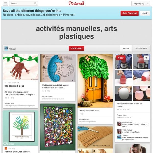 Activités manuelles, arts plastiques