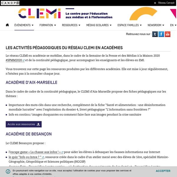 Les activités pédagogiques du réseau CLEMI
