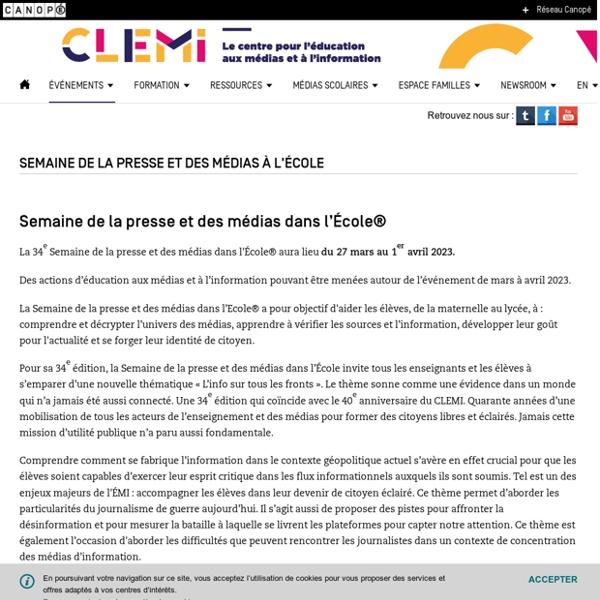 Activités pédagogiques en ligne- CLEMI