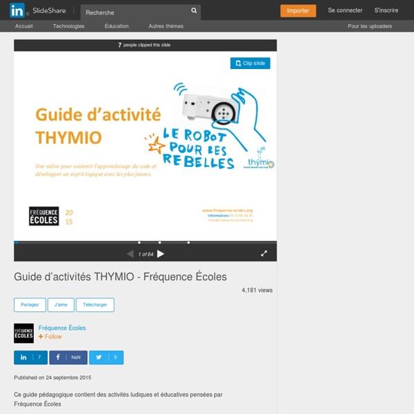 Guide d'activités THYMIO - Fréquence Écoles