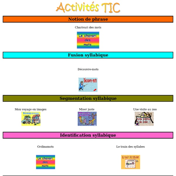 Activités-TIC