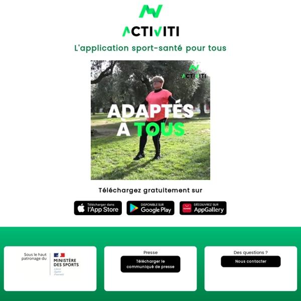 Activiti : l'appli sport-santé à télécharger gratuitement