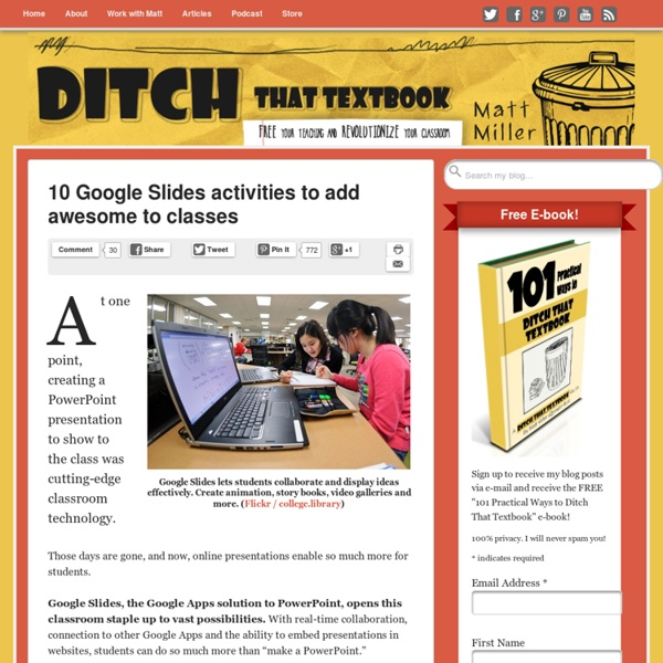 10 Google Slides activities to add awesome to classes