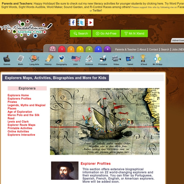 Explorers Maps, Activities, Biographies and More for Kids «