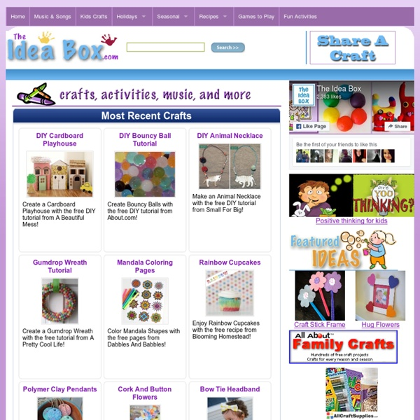 Kids Crafts, Games, Recipes & Activities For Early Childhood Education!