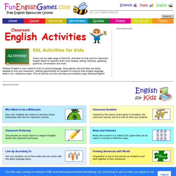 ESL Activities for Kids - Fun Classroom English Ideas for Teachers
